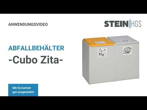 Abfallbehälter -Cubo Zita- 40 oder 60 Liter