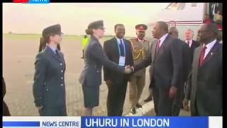President Uhuru Kenyatta arrives in the UK for the Commonwealth Heads of Government Meeting