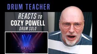 Drum Teacher Reacts To Cozy Powell - Drum Solo