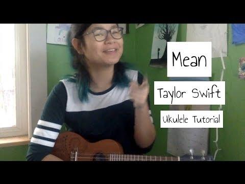 Ukulele Tutorial Mean By Taylor Swift Theukeballers Video