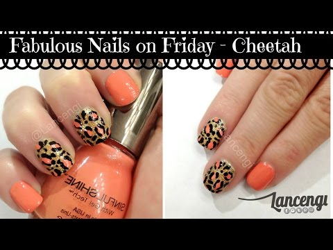 DIY Easy & Cute Nail Art Designs #5 - Classy Cheetah Nails