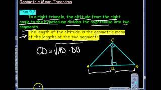 9.1 Similar Right Triangles Notes