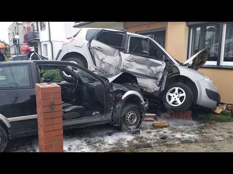Wideo1: Wypadek na Orłowskiego w Lesznie