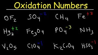 How To Calculate Oxidation Numbers - Basic Introduction