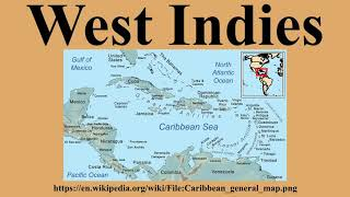 Geography map of Caribbean countries.