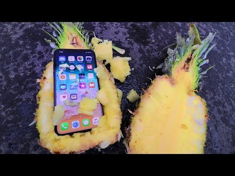 CAN A PINEAPPLE PROTECT iPhone X from 100ft DROP TEST!?