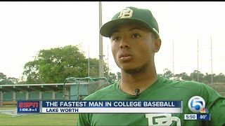 The fastest player in college baseball