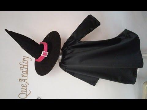 Disfraz de Bruja  como hacer  DIY   Clase # 63