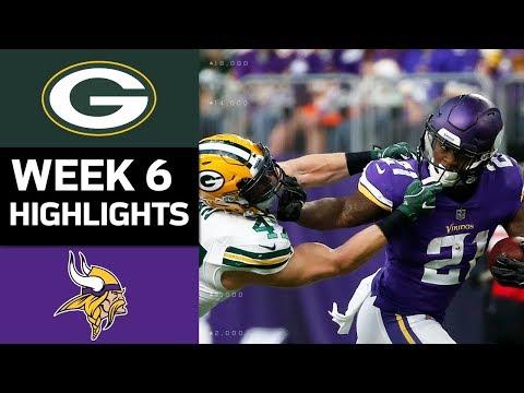 Packers vs. Vikings   NFL Week 6 Game Highlights