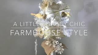 Dollar Tree DIY Shabby Chic Farmhouse Christmas Tree