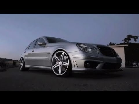 "Mercedes Benz AMG E55 on 20"" Vossen VVS-CV5 Concave Wheels | Rims"