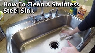How To Clean A Stainless Steel Sink / Sink cleaning / How to clean your kitchen sink naturally