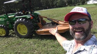 How to mow with a tractor (bushhog) From Lubrication to technique and safety..quick tutorial
