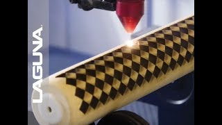 Laser Etching a Checkered Rolling Pin - Checkered Pattern on CO2 Laser
