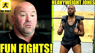 A lot of FUN is going to be coming over the UFC Heavyweight Division-Dana White,Kevin Lee, Jon Jones