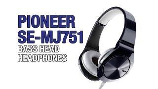 Pioneer SE-MJ751 Bass Head Headphones Unboxing & Review
