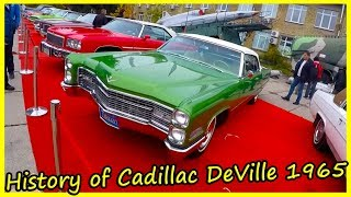 History of Cadillac DeVille 1965. Old American Cars of the 60s. History of Cars Cadillac DeVille