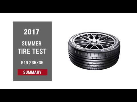 2017 Summer Tire Test Results | 235/35 R19