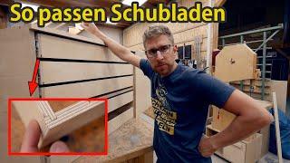 Die VERLÄSSLICHSTE Methode PASSGENAUE Schubladen zu bauen   XXL Werkstattwagen 4
