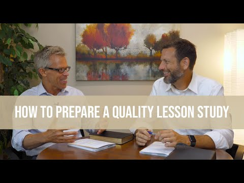 How to Prepare a Quality Lesson Study