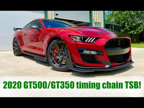 2020 Shelby GT500 & GT350 secondary timing chain tensioner TSB!  Check yours to prevent damage!