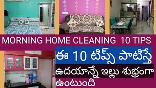 HOME CLEANING 10 EASY TIPS IN TELUGU  Morning House Cleaning Tips  TRENDY NEELIMA IDEAS/CLEANING TIP