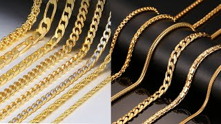 Mens Gold Neck Chain Latest Design Collections