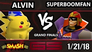 GENESIS 5 Smash 64 - PG   SuPeRbOoMfAn (Captain Falcon) VS Alvin (Pikachu) - Super Smash Bros. GF - dooclip.me