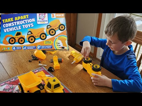 Take Apart Construction Vehicle Toys | Cruviblue Toys | Review