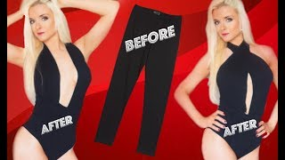 DIY How To Make A Romper / Playsuit Out Of Leggings No SEW | Girl Hacks | Clothing Hacks