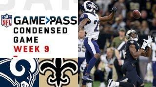 Los Angeles Rams vs. New Orleans Saints | NFL Week 9 Game Pass Condensed Game