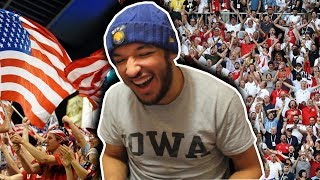 WOW! American Football Fans VS English Football Fans (Chants) || REACTION