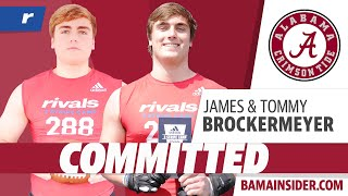 Tommy And James Brockermeyer Commit To Alabama