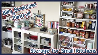 Billy Bookcase Pantry // Storage & Tour!
