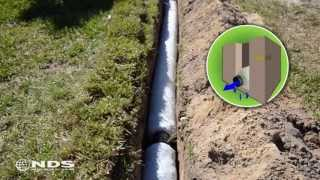 EZ Drain french drain installation: the gravel free alternative