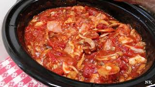 SLOW COOKED PORK RAGOUT!!  DUMP AND GO RECIPE!!