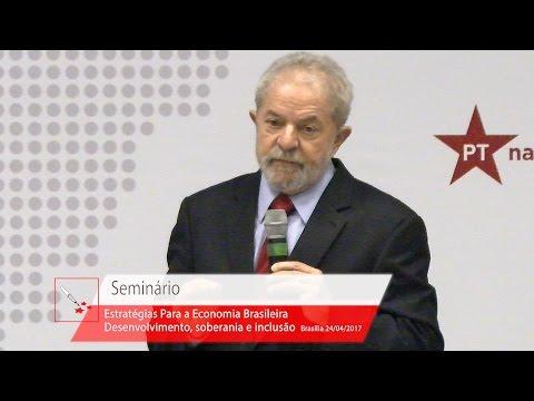"""Seminário """"Estratégias para a Economia Brasileira""""  Lula"""