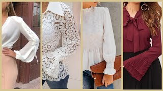 Long Sleeves Styles And Ideas For Tops And Maxi Blouses And Evening Dresses