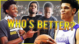 WHO'S BETTER? DE'AARON FOX OR LONZO BALL - NBA 2K18 Blacktop Gameplay