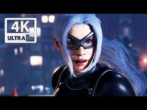 SPIDER-MAN PS4  All Black Cat Scenes (The Heist DLC) 4K Ultra HD