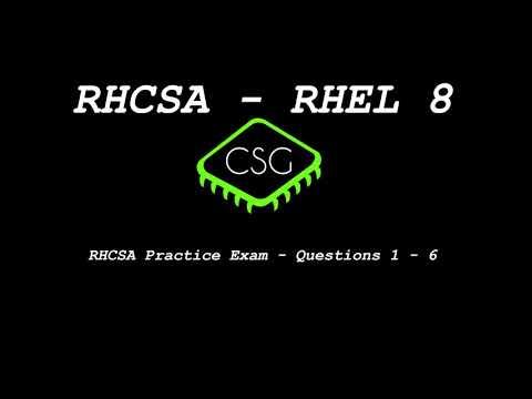 RHCSA RHEL 8 - Practice Exam - Questions 1-6 - YouTube