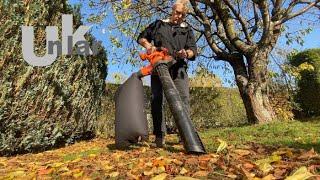 Mein Laubsauger und Bläser im Herbsteinsatz
