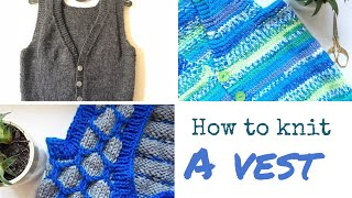 How to knit a VEST Part 1  | TeoMakes