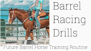 Barrel Racing Drills / My Arena Routine For My Barrel Horse In Training || Camo Cowgirl