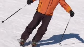 Смотреть онлайн Правильные повороты на горных лыжах