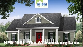 HPG-1951-1 1,951 SF, 3 Bed, 2.5 Bath Country House Plan By House Plan Gallery