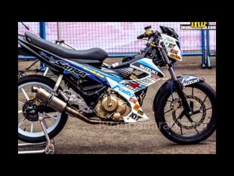 Video modifikasi motor satria fu