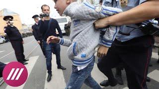 Как в Петербурге задерживали детей, пенсионеров и других протестующих против пенсионной реформы