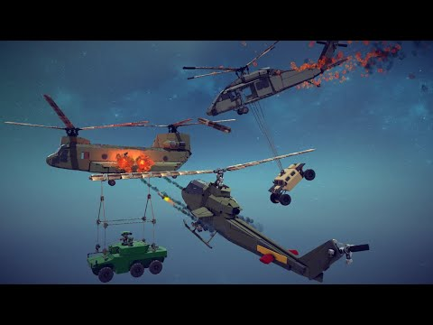 Helicopter Crashes, Shootdowns, Midair Collisions and More #9   Besiege