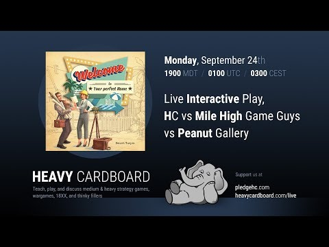 Welcome To... 3p Interactive Play-through, Teaching, & Roundtable discussion by Heavy Cardboard